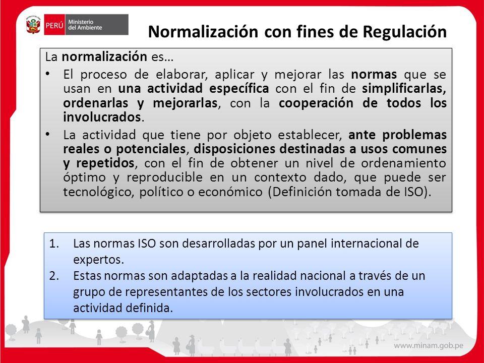 Normalización con fines de Regulación