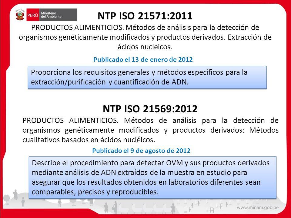 NTP ISO 21571:2011 PRODUCTOS ALIMENTICIOS