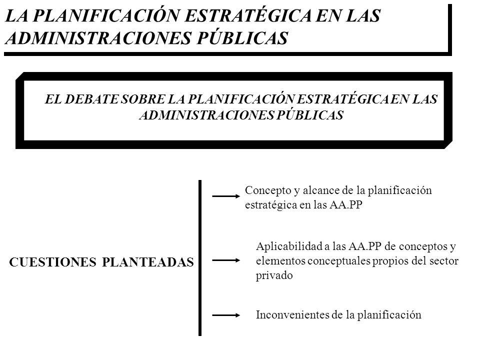 LA PLANIFICACIÓN ESTRATÉGICA EN LAS ADMINISTRACIONES PÚBLICAS