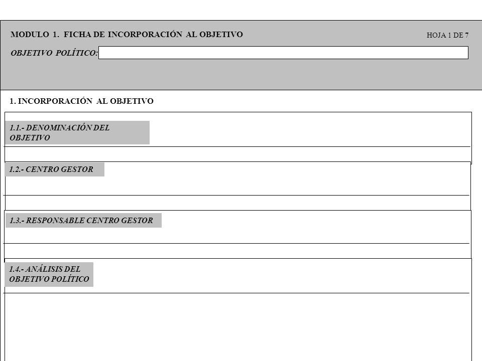 MODULO 1. FICHA DE INCORPORACIÓN AL OBJETIVO
