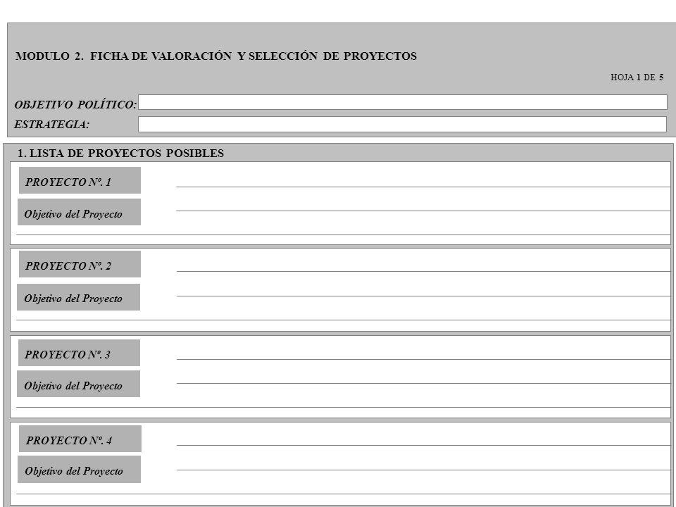 MODULO 2. FICHA DE VALORACIÓN Y SELECCIÓN DE PROYECTOS