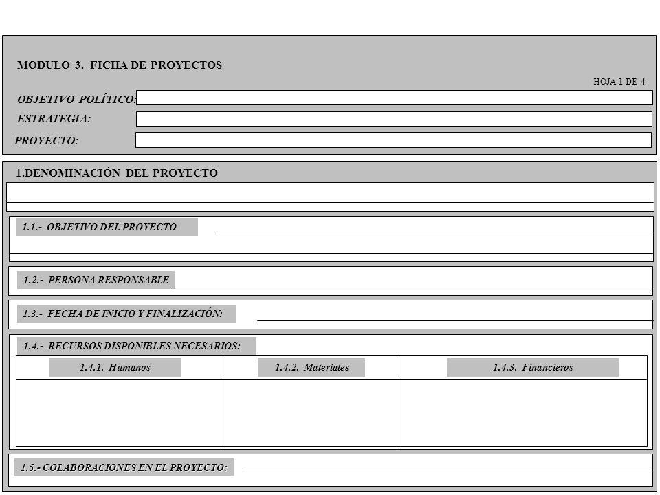 MODULO 3. FICHA DE PROYECTOS