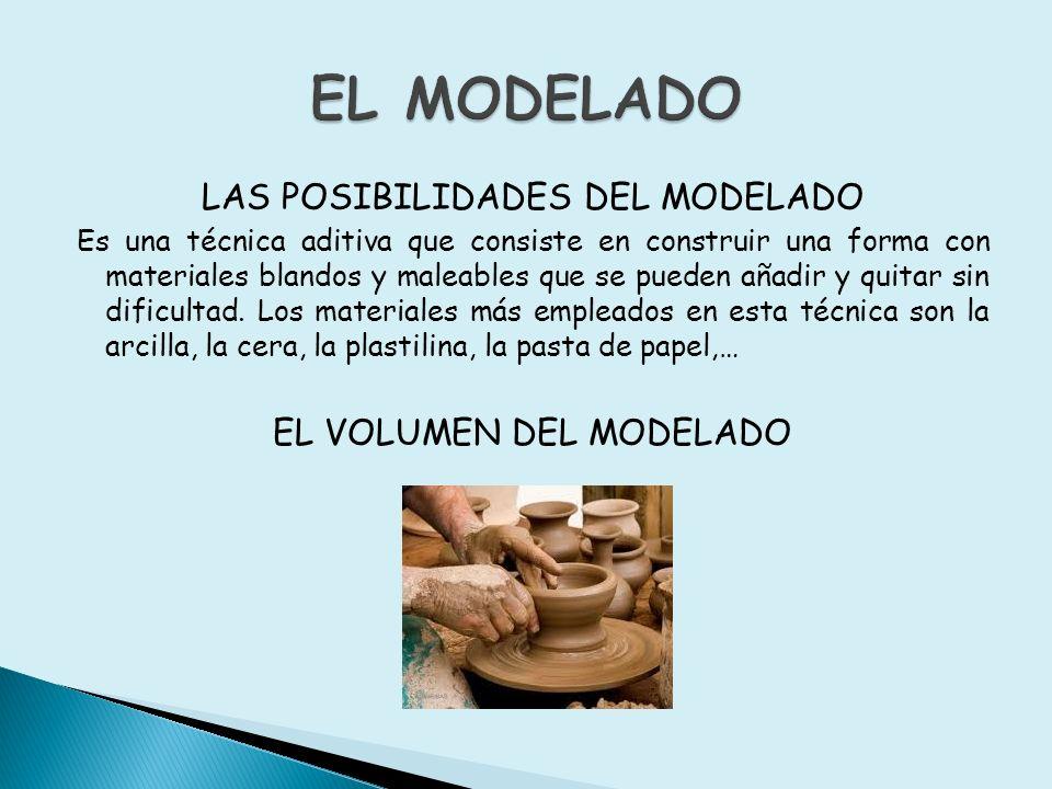 EL MODELADO LAS POSIBILIDADES DEL MODELADO EL VOLUMEN DEL MODELADO
