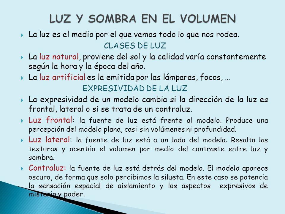 LUZ Y SOMBRA EN EL VOLUMEN