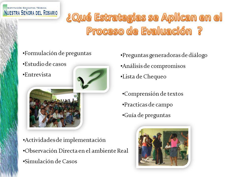 ¿Qué Estrategias se Aplican en el Proceso de Evaluación