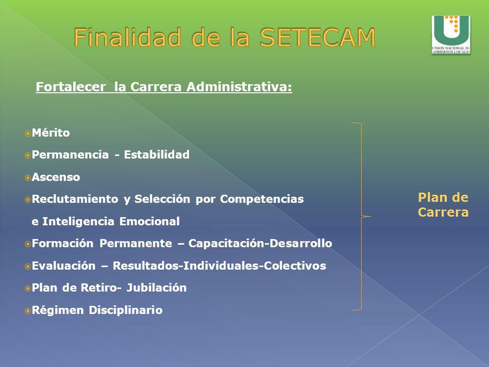 Finalidad de la SETECAM