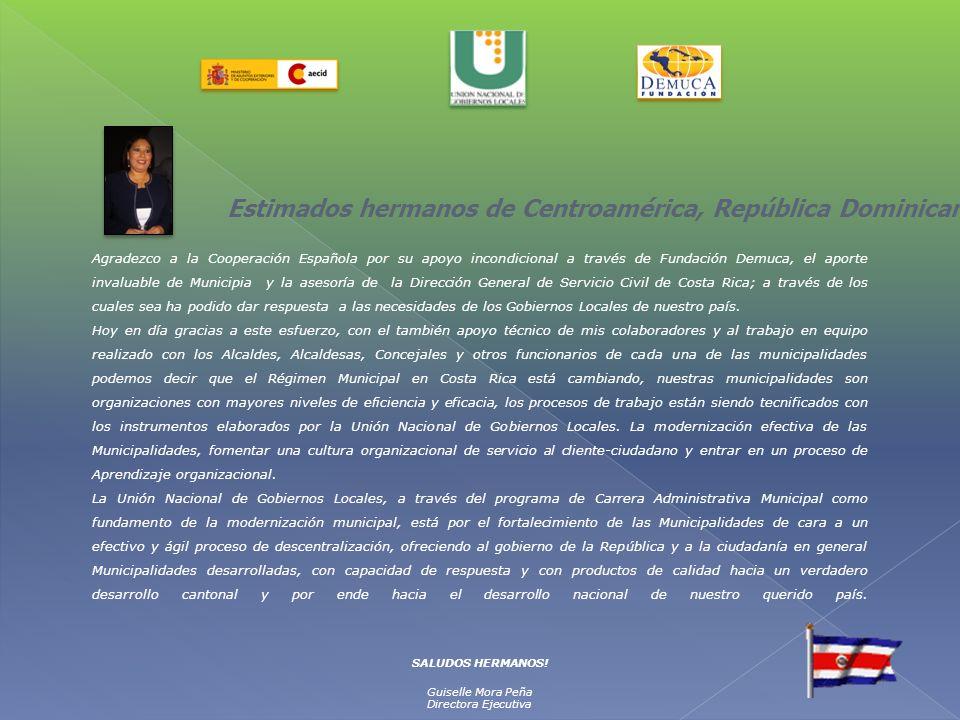 Estimados hermanos de Centroamérica, República Dominicana y el Caribe;