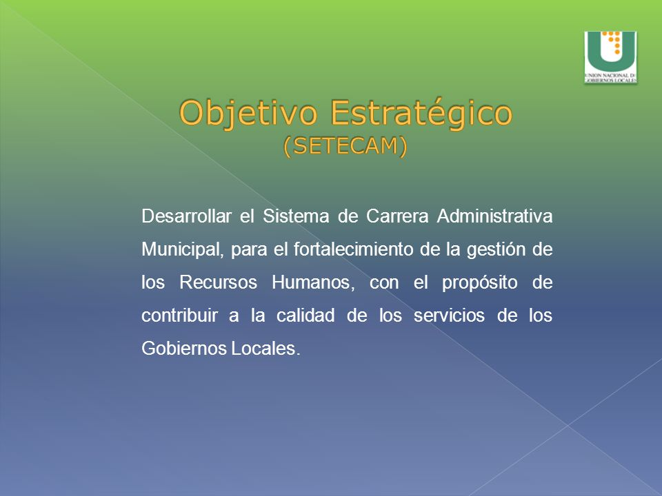 Objetivo Estratégico (SETECAM)