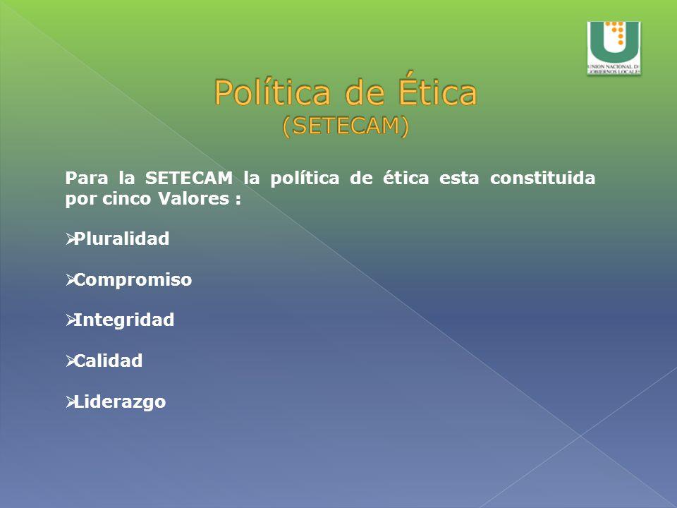 Política de Ética (SETECAM)