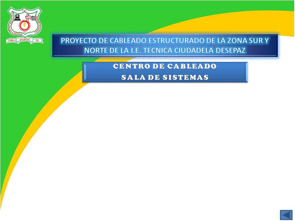 PROYECTO DE CABLEADO ESTRUCTURADO DE LA ZONA SUR Y NORTE DE LA I. E