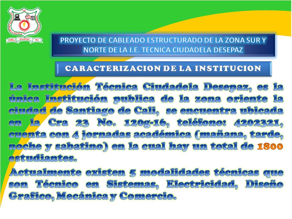 CARACTERIZACION DE LA INSTITUCION