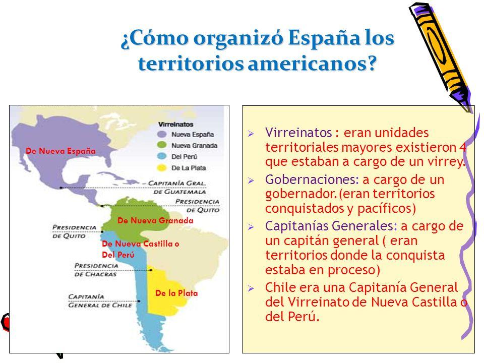 ¿Cómo organizó España los territorios americanos