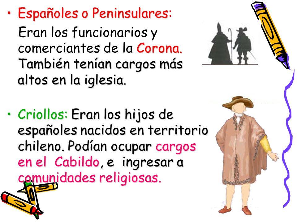 Españoles o Peninsulares: