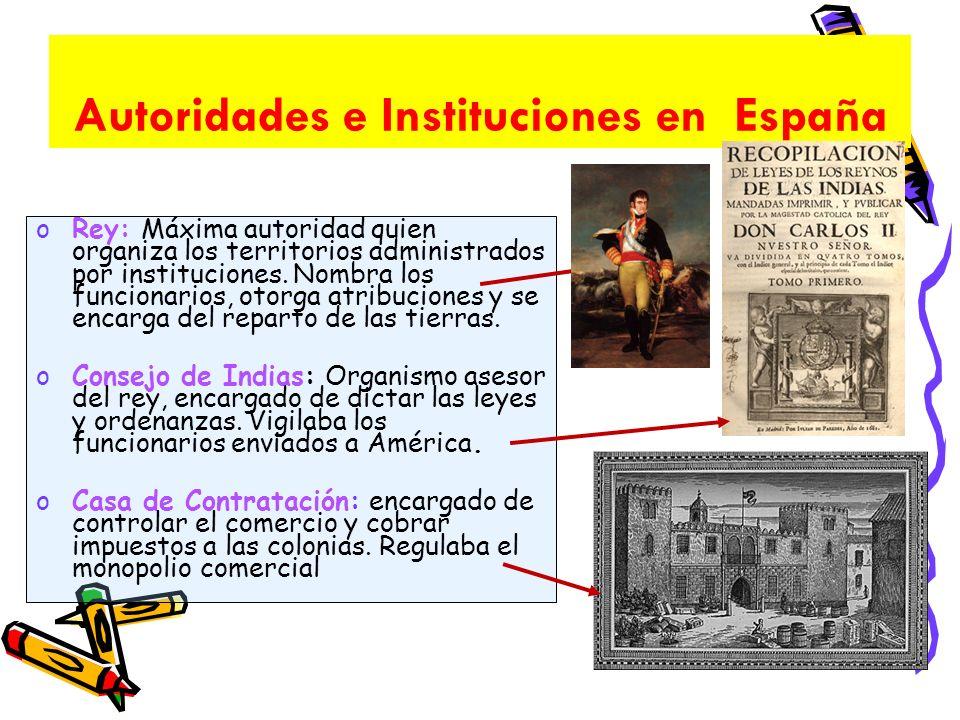 Autoridades e Instituciones en España