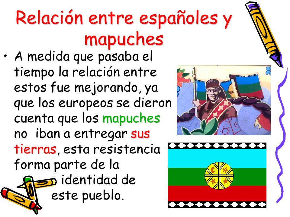 Relación entre españoles y mapuches