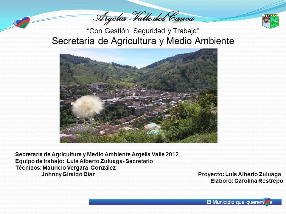 Argelia -Valle del Cauca Con Gestión, Seguridad y Trabajo Secretaria de Agricultura y Medio Ambiente