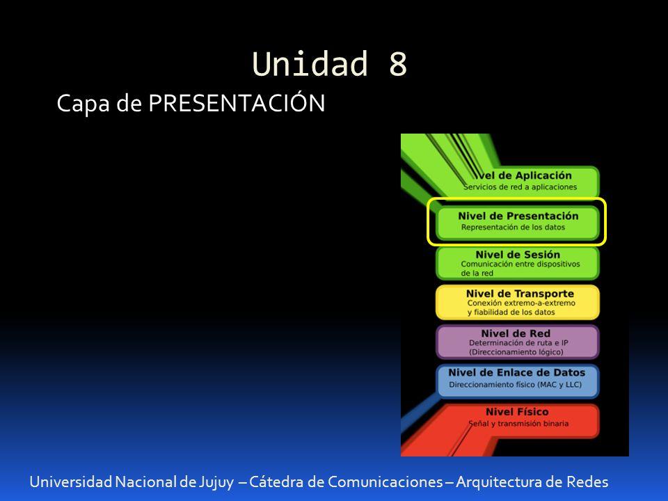 Unidad 8 Capa de PRESENTACIÓN