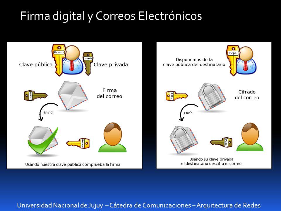 Firma digital y Correos Electrónicos
