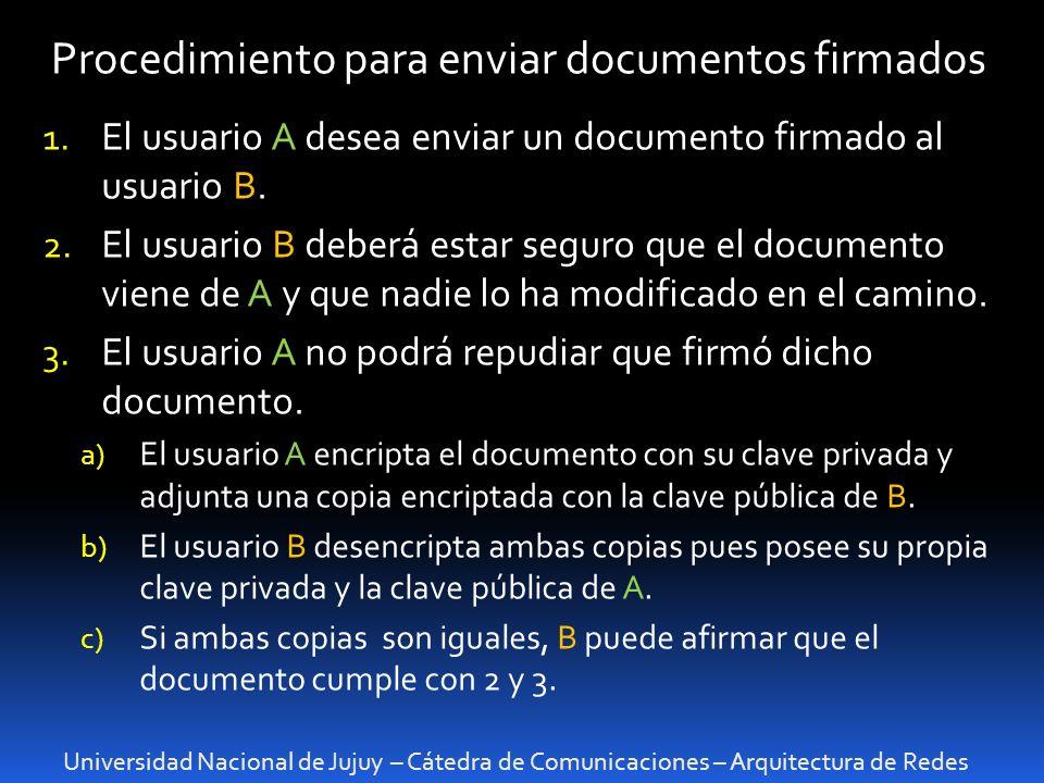 Procedimiento para enviar documentos firmados