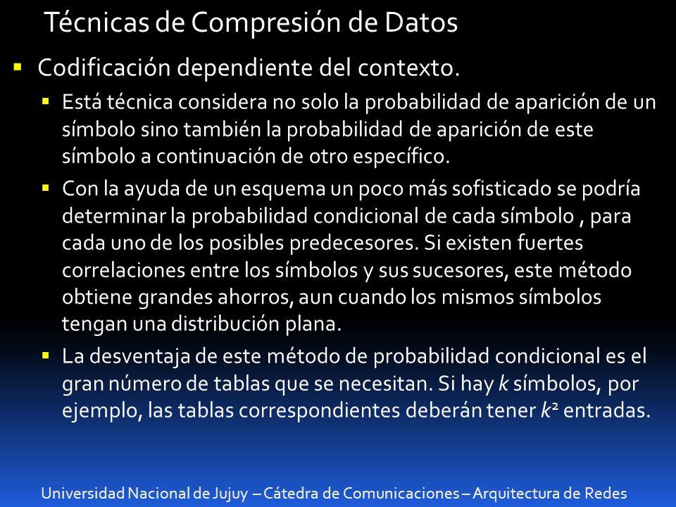 Técnicas de Compresión de Datos