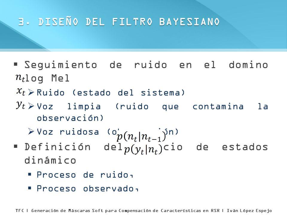 3. DISEÑO DEL FILTRO BAYESIANO