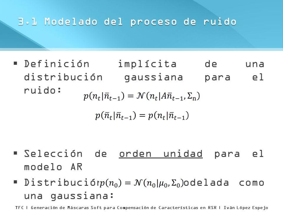 3.1 Modelado del proceso de ruido