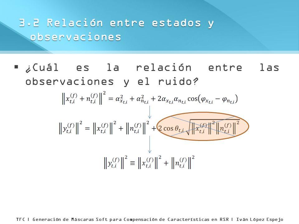 3.2 Relación entre estados y observaciones