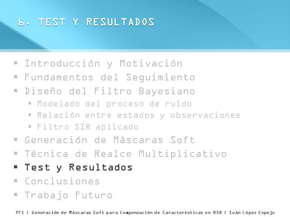 6. TEST Y RESULTADOS Introducción y Motivación