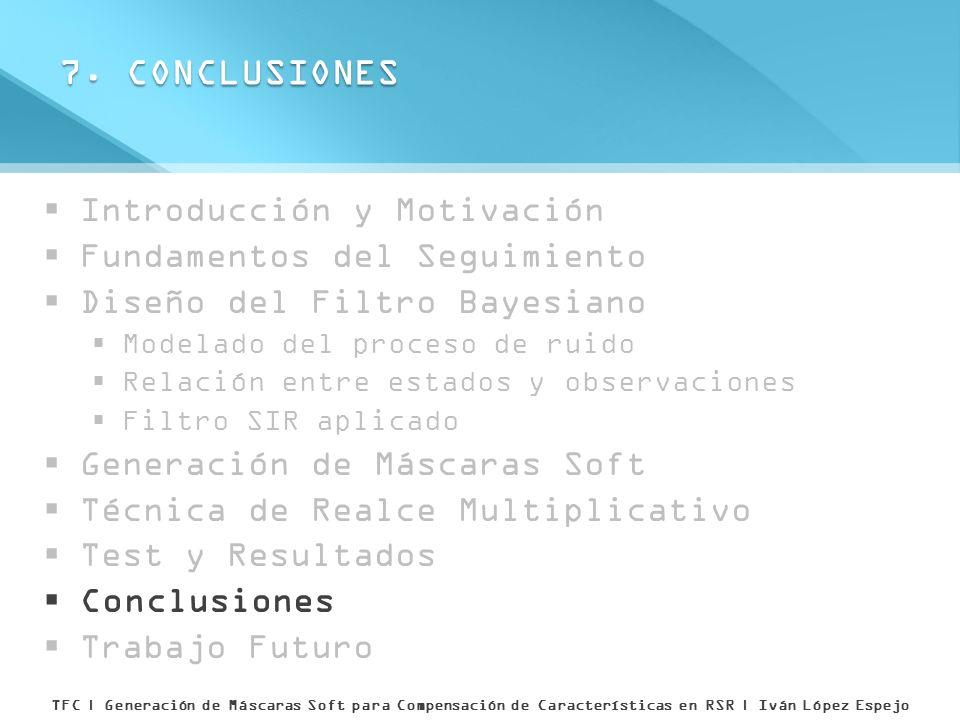 7. CONCLUSIONES Introducción y Motivación Fundamentos del Seguimiento