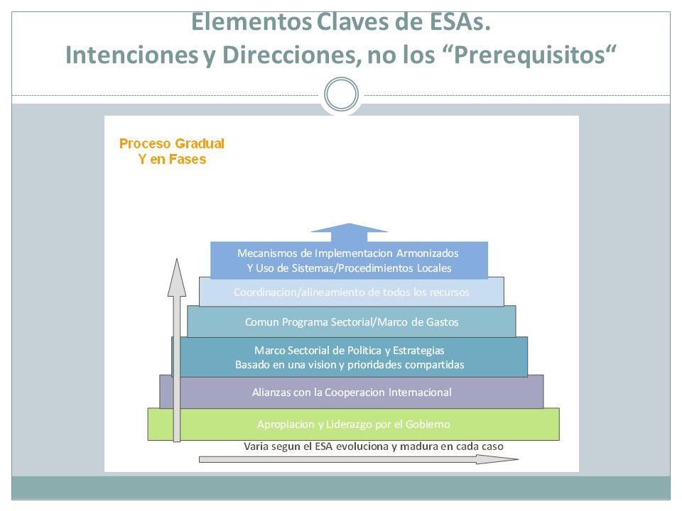 Elementos Claves de ESAs