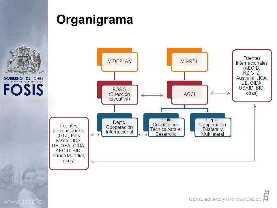 Organigrama MIDEPLAN FOSIS (Dirección Ejecutiva)