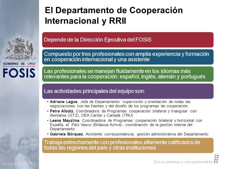 El Departamento de Cooperación Internacional y RRII