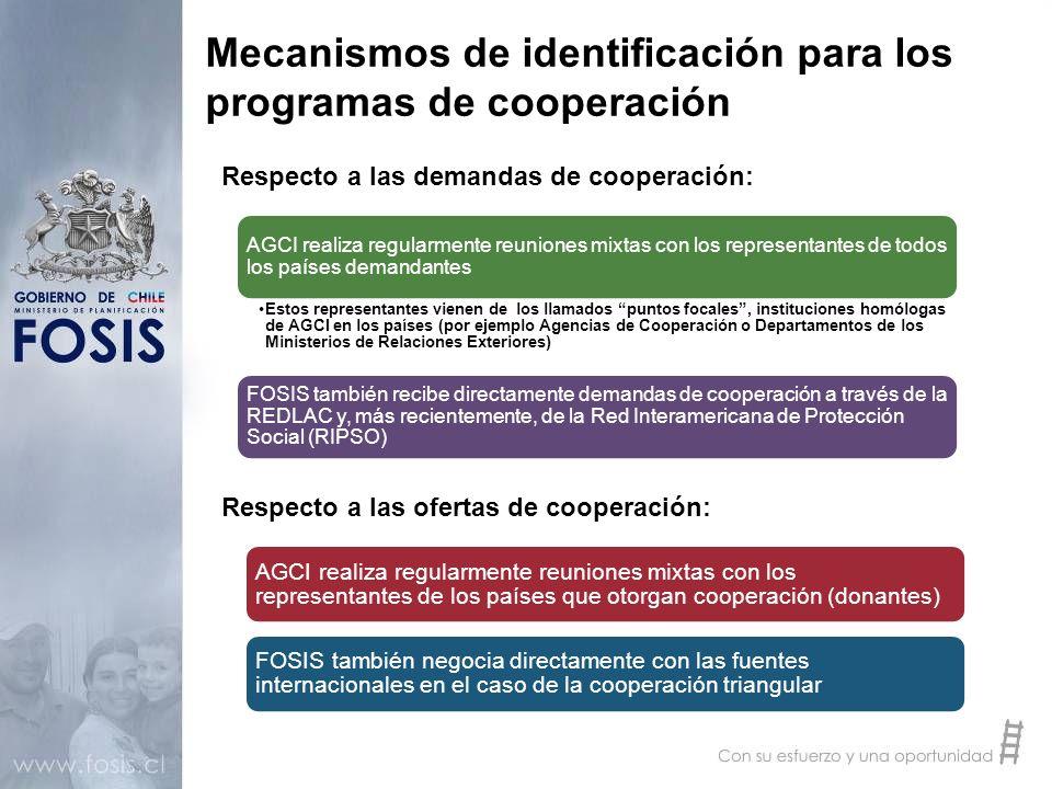 Mecanismos de identificación para los programas de cooperación