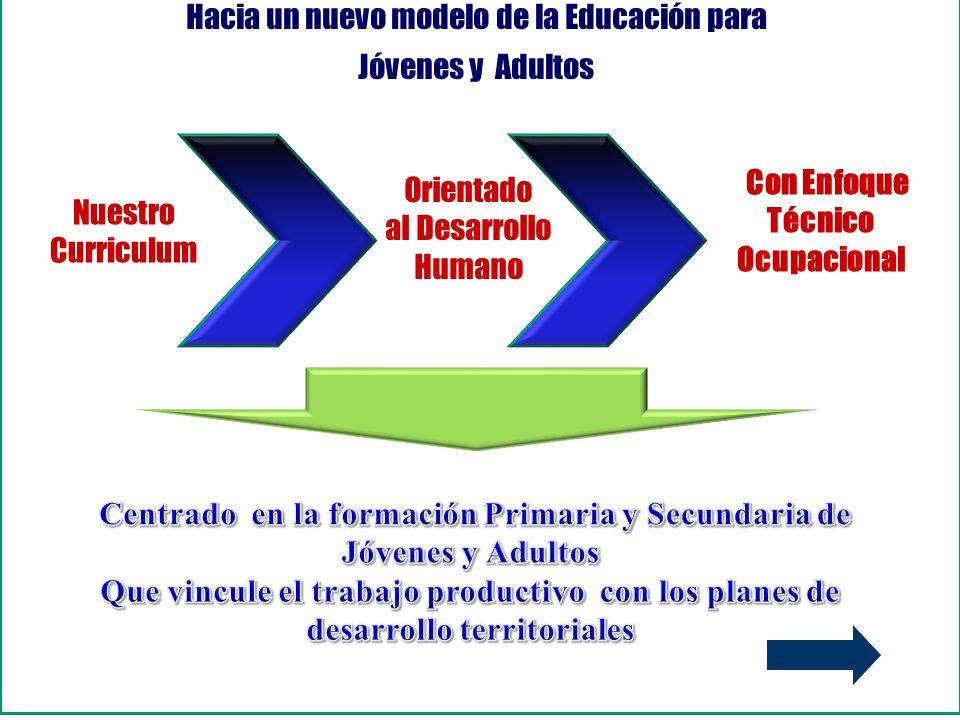 Hacia un nuevo modelo de la Educación para Jóvenes y Adultos