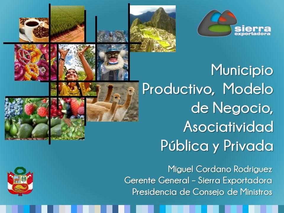 Municipio Productivo, Modelo de Negocio, Asociatividad Pública y Privada