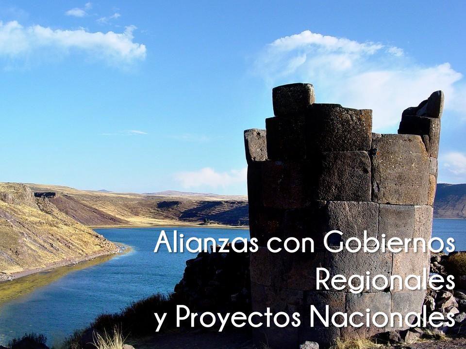 Alianzas con Gobiernos Regionales