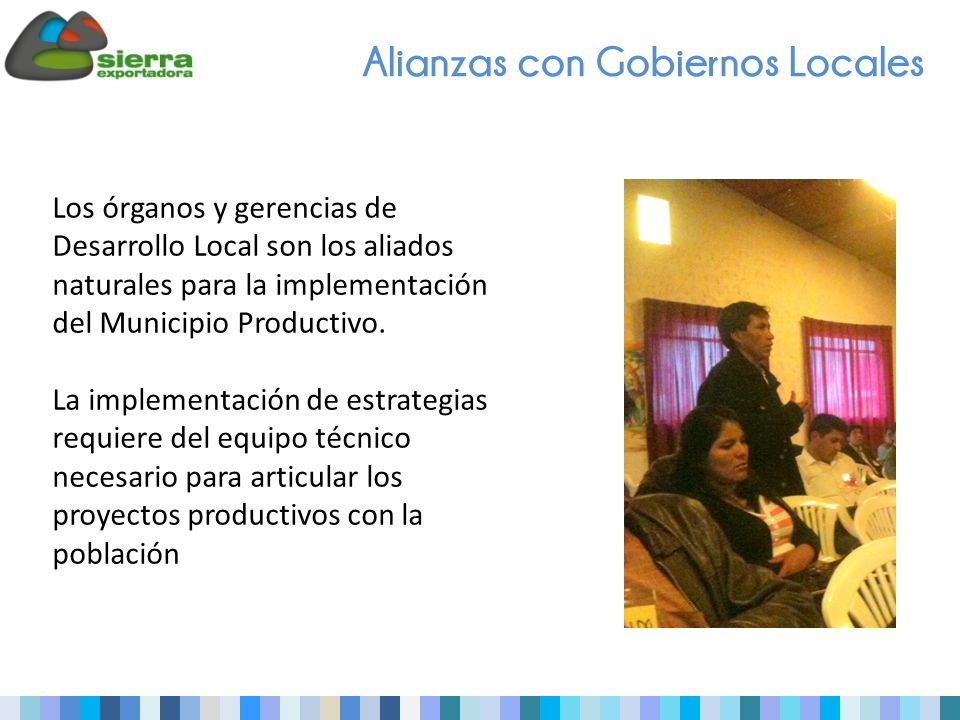 Alianzas con Gobiernos Locales