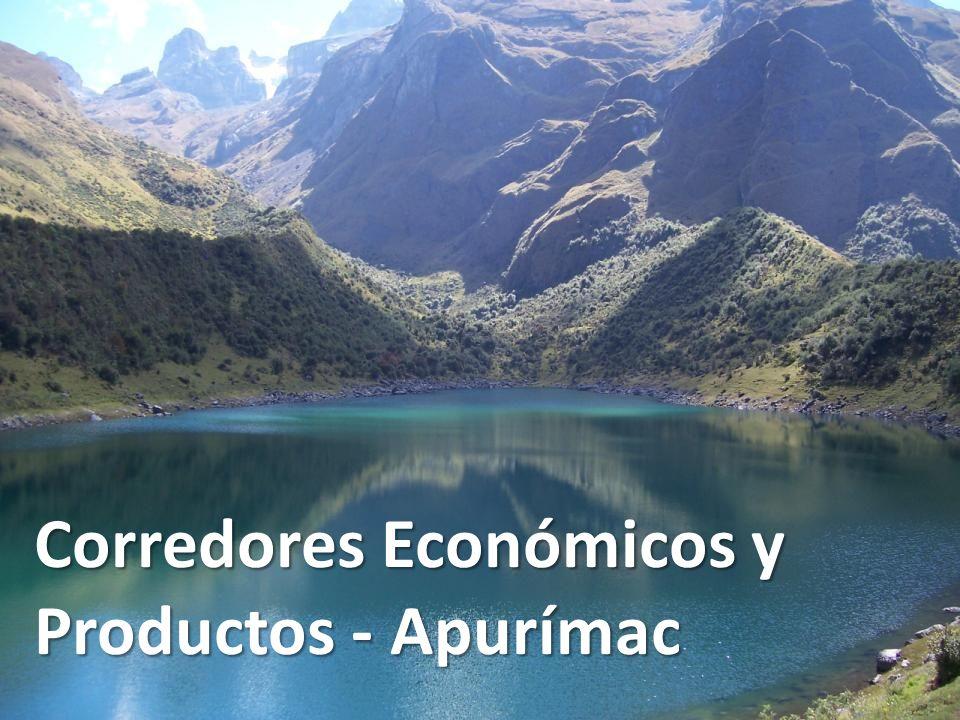 Corredores Económicos y Productos - Apurímac