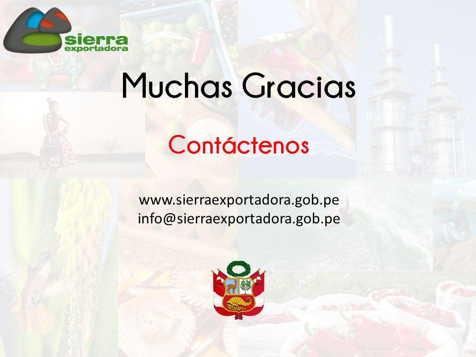 Muchas Gracias Contáctenos www.sierraexportadora.gob.pe