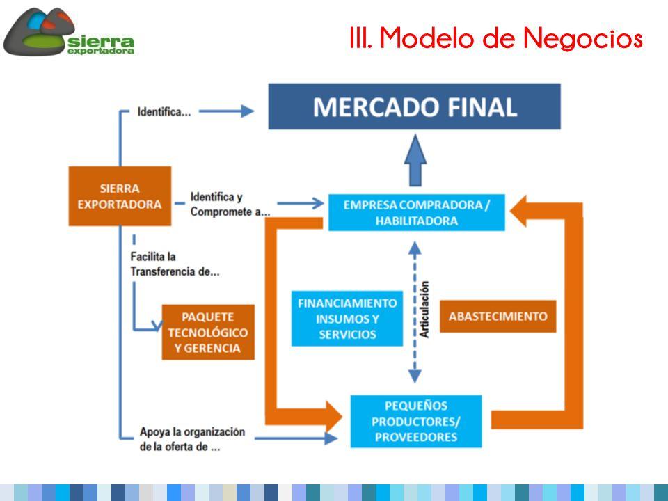 III. Modelo de Negocios