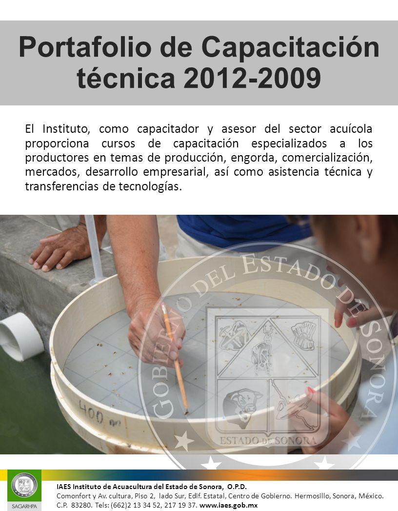 Portafolio de Capacitación técnica 2012-2009