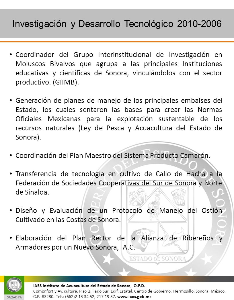 Investigación y Desarrollo Tecnológico 2010-2006