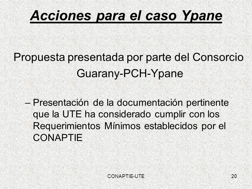 Acciones para el caso Ypane