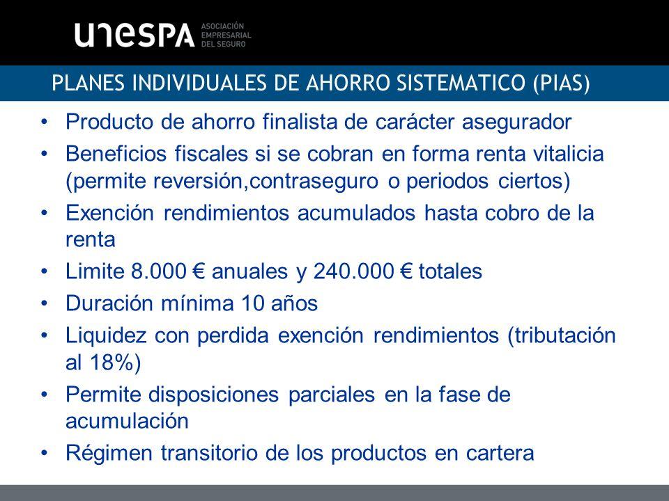 PLANES INDIVIDUALES DE AHORRO SISTEMATICO (PIAS)