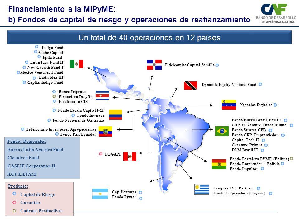 Un total de 40 operaciones en 12 países