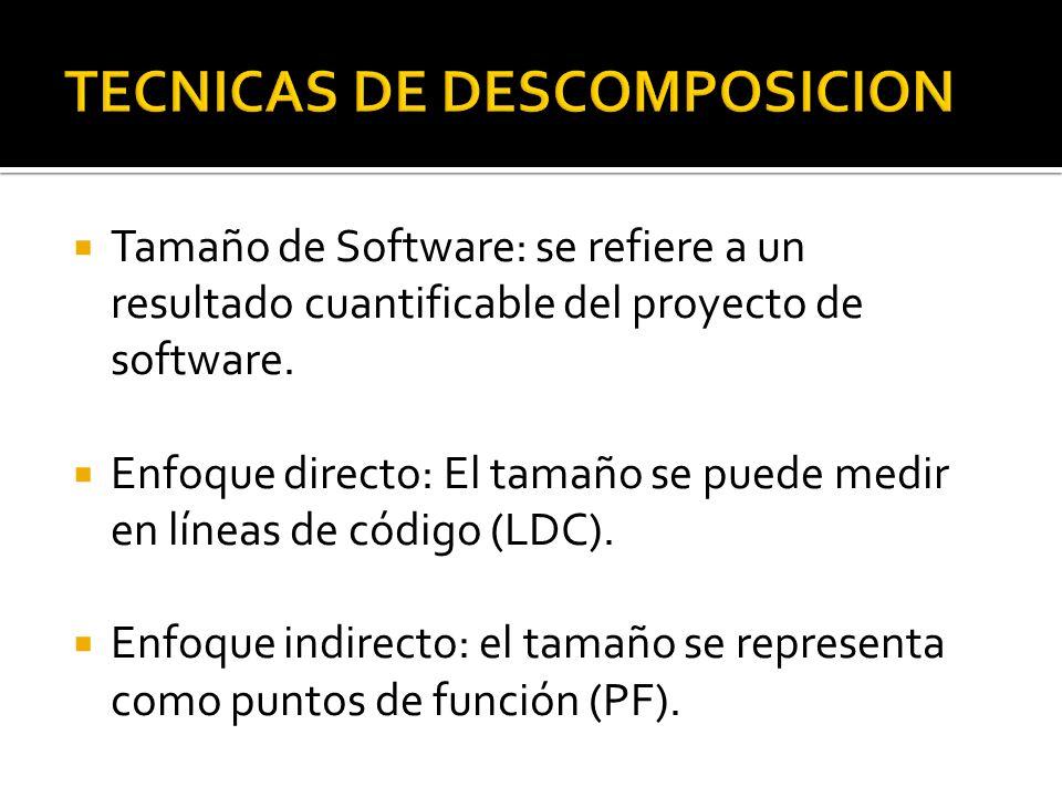 TECNICAS DE DESCOMPOSICION