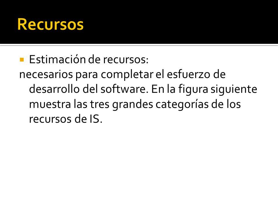 Recursos Estimación de recursos: