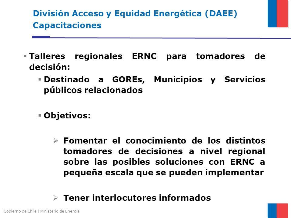 División Acceso y Equidad Energética (DAEE) Capacitaciones