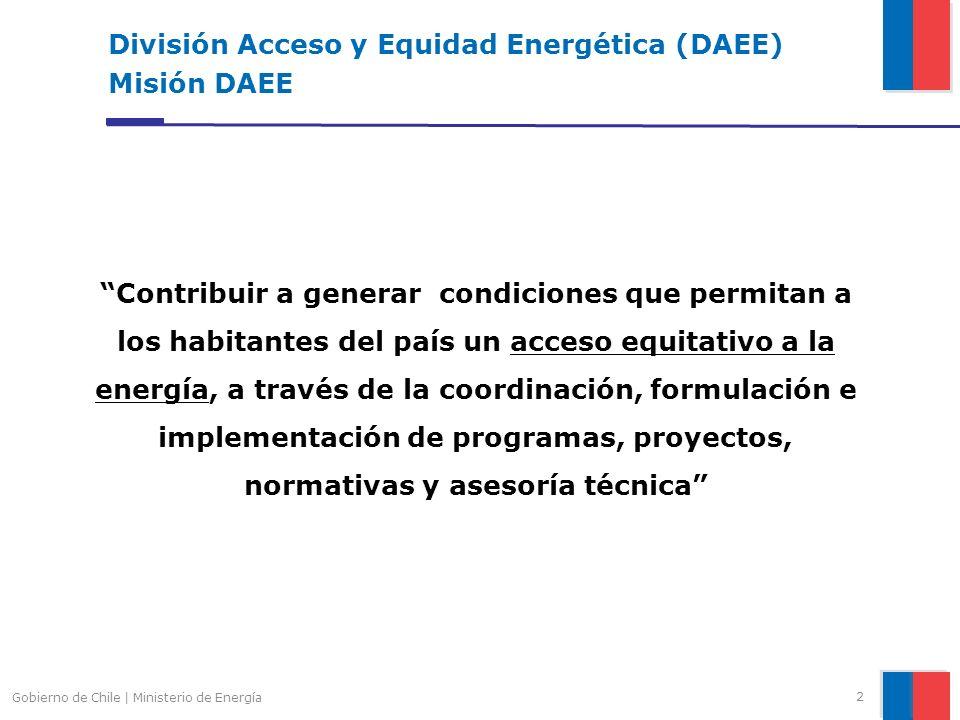 División Acceso y Equidad Energética (DAEE) Misión DAEE