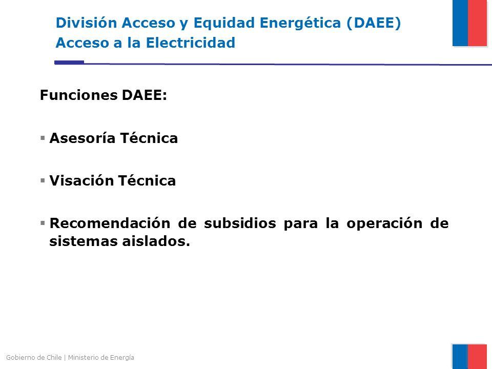 División Acceso y Equidad Energética (DAEE) Acceso a la Electricidad